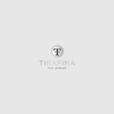 Blue & White Lab-Created Sapphire Sterling Silver Hoop Earrings