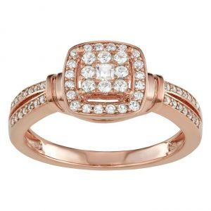 10K Rose Gold 3/8 CT. T.W. Diamond Ring